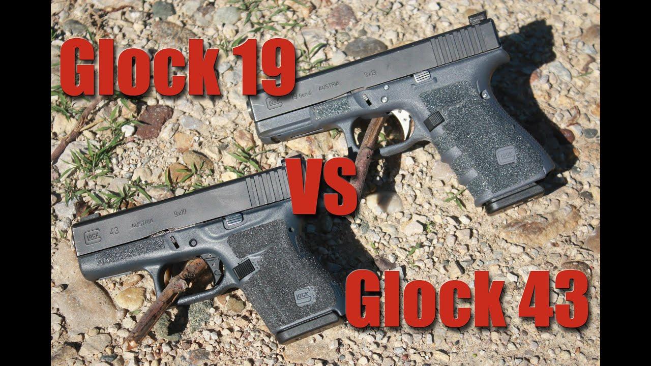 Glock 19 vs Glock 43: Large vs Small Gun for Concealed ...