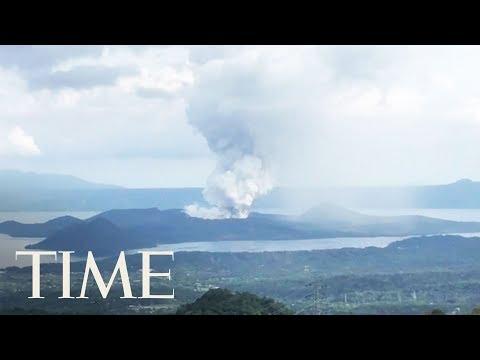Volcano Erupts Near