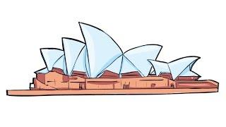 How to Draw a Sydney Opera House / Как нарисовать Сиднейский оперный театр