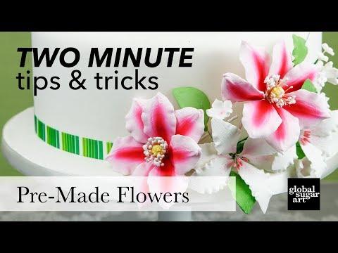 Using Pre Made Gumpaste Sugar Flowers