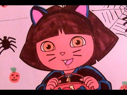 dora coloring pages halloween goblin - photo#49