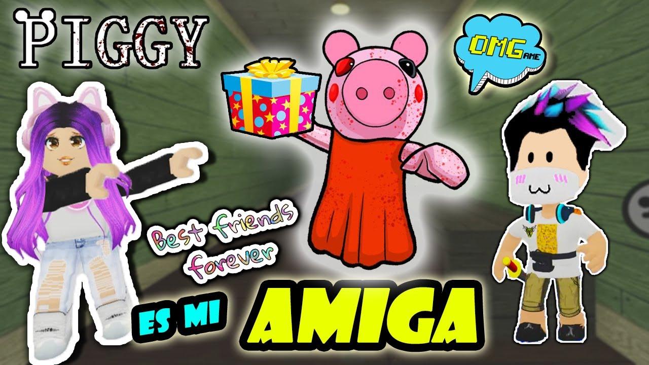 PIGGY ES MI AMIGA !!! TRUCO para GANAR EN Piggy de ROBLOX 👍 OMGame Retos Divertidos