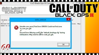 РЕШЕНО Call Of Duty Black Ops 3 - Черный экран Win ERROR