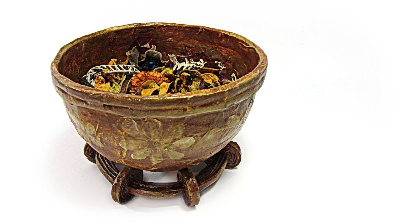 Reciclaje cuenco decorativo para perfumar recycling - Cestas decorativas ...