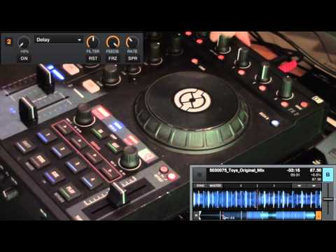 How to use Traktor Effects to Slow Down a Track - Delay