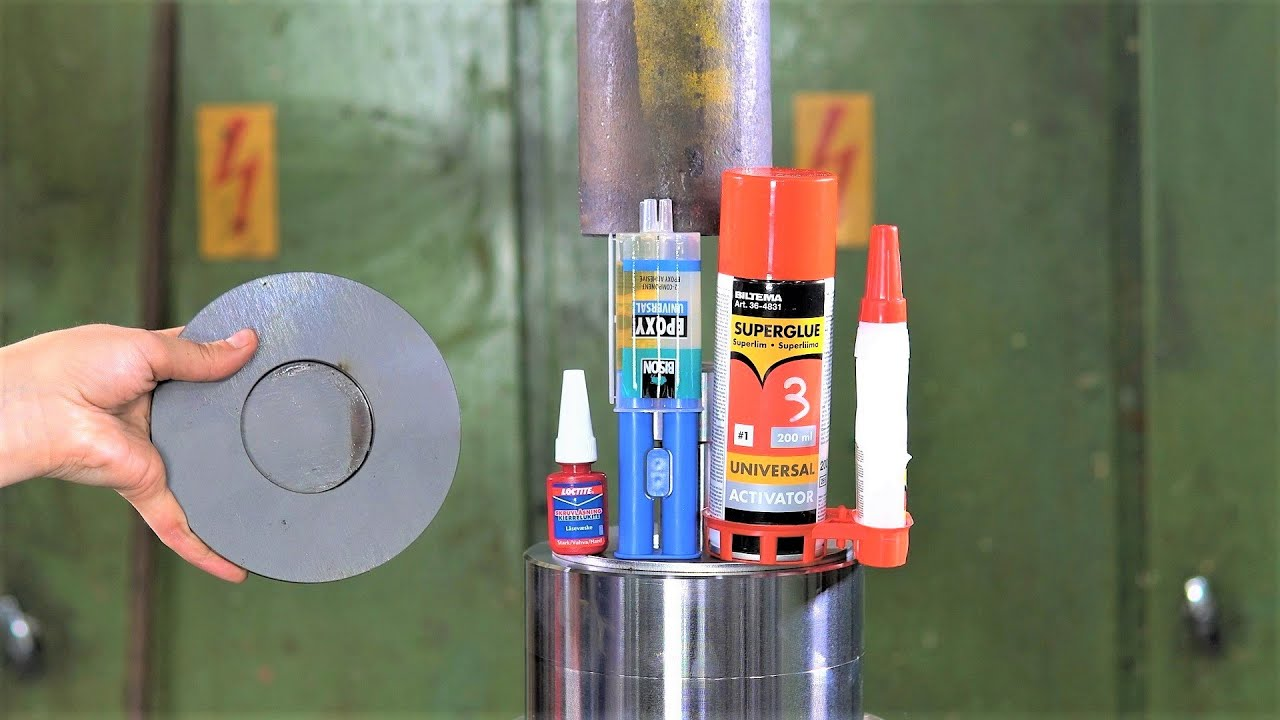 Which is the Best Glue for Steel Parts? Hydraulic Press Test!