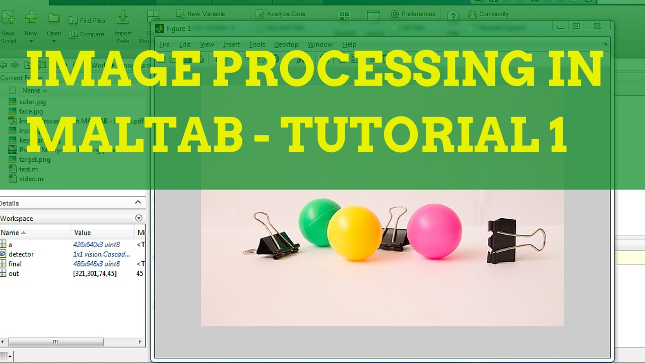 Image Processing in MATLAB Tutorial 1 - Acquisition and Display