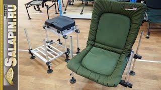 Рыболовные стулья, кресла, платформы. На чем сидеть на рыбалке. [salapinru](Небольшой обзор того, на чем мы сидим на рыбалке. От самых простеньких стульчиков, до рыболовных кресел..., 2015-05-19T16:23:28.000Z)