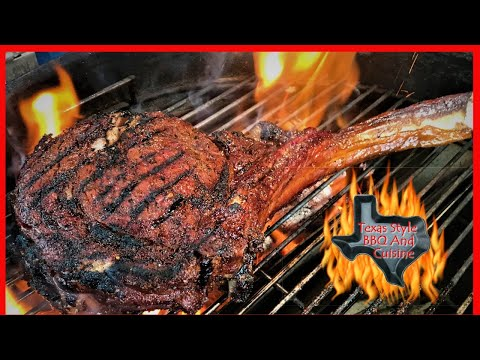 Bone In Ribeye And Wine Pairing | Chef Johnny Cowboy Ribeye | Texas Style Cuisine Weber Performer