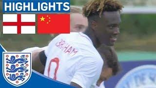 England U21 2-1 China | Abraham Grabs Last Minute Winner! | Highlights