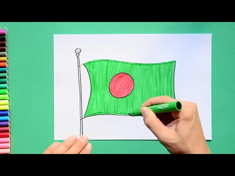 How to draw and color the National Flag of Bangladesh