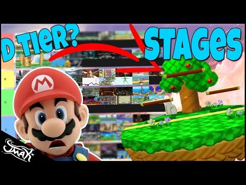 Smash Bros Ultimate Tier List.. But It's Based On The Stages thumbnail