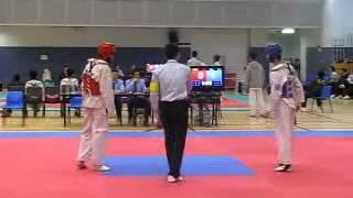 中銀香港第55屆體育節跆拳道男子色帶賽2012 - Fly 何享庭(紅)(16強)R1