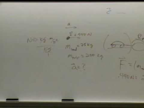 Physics 210 - Lecture 8 - Introduction to Forces: Newtons Law I & Newtons Law II