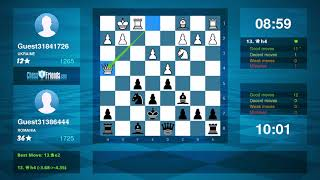 Chess Game Analysis: Guest31841726 - Guest31386444 : 0-1 (By ChessFriends.com)