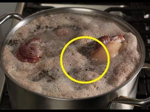 Будьте бдительны! Если при варке супа, образуется большое количество пены...
