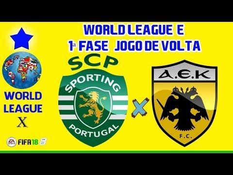 Sporting Lisboa x AEK Atenas   World League-E   1ª Fase   Jogo de Volta [FIFA2018