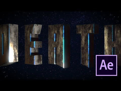 Cinematic epic title intro - After Effects and Element 3D tu