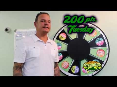 "Spin the wheel on ""200 Pts. Tuesday!"""