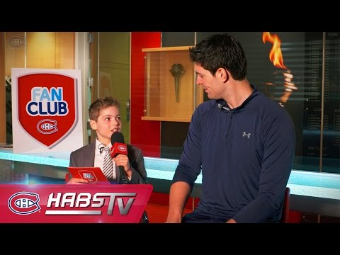 Fan Club Journalist for a day with Carey Price