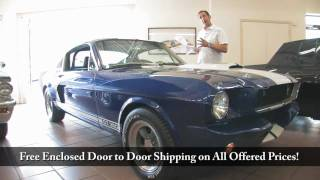 1965 Shelby Mustang GT 350  for sale with test drive, driving sounds, and walk through video
