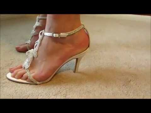 422d90dc82e7 LUXVEER Sandals with Silver Rhinestone and Lace Butterfly - YouTube