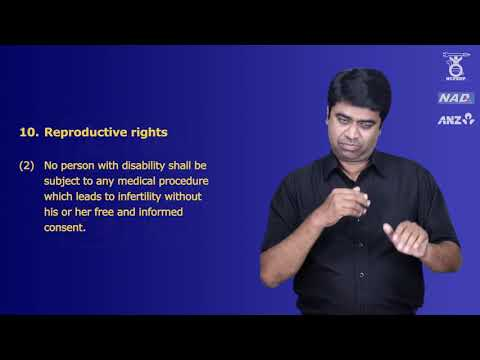 Chapter II- Rights and Entitlements, Rights of Persons with Disabilities Act in sign language