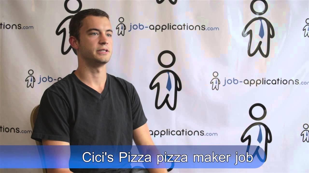 pizza maker job description