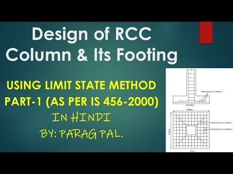 Design of column and its footing