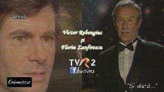 Victor Rebengiuc şi Florin Zamfirescu recitând poezii de Mihai Eminescu