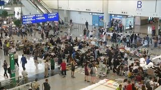 Over 200 flights canceled due to protests at HK Intl. Airport