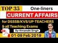 February Current Affairs Oneliners for KVS, NVS, DSSSB   (1st-9th) Feb 2019 CA