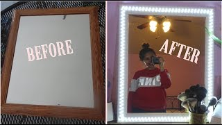 $20 LIT VANITY MIRROR (EASIEST DIY EVER!!)