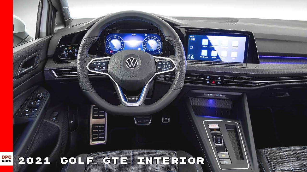 2021 Volkswagen Golf GTE Interior Cabin - VW - YouTube