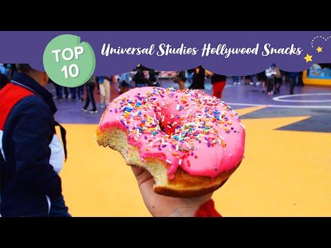 Top 10 Snacks At Universal Studios Hollywood!