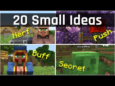 20 Small Ideas to Improve Minecraft for Dinnerbone | Minecraft 1.18/1.19