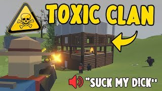 Making A Toxic Clan Leave The Server.. | Unturned France Base Raid