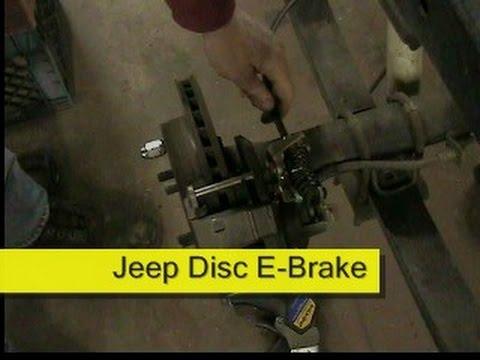 jeep parking brake for disc brakes