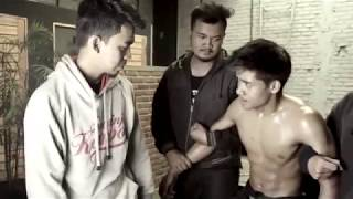 Hot Asian guy gets beaten and captured, gut punch in fight