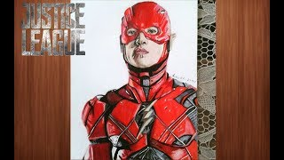 drawing the flash ezra miller justice league you art 1