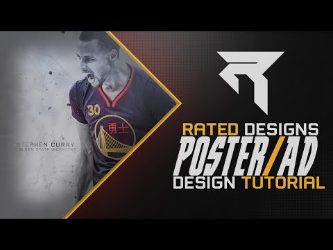 Poster/Ad Design Tutorial By Rated (Must Watch)