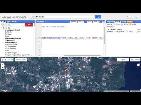 Adding Landsat Data into Google Earth Engine