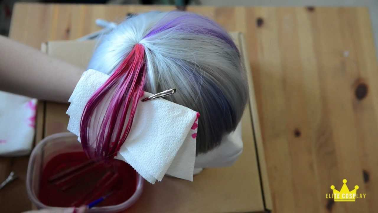 Dyeing A Section Of Your Wig Sharpie Method Youtube