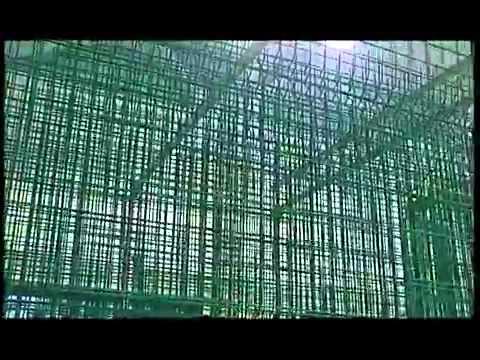 Видео Сетка оцинкованная 6 мм 50 мм
