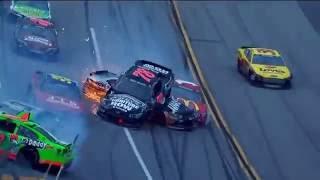 Подборка ужасных аварий NASCAR. Selection of horrible accidents NASCAR.