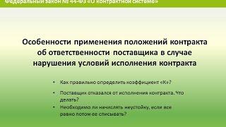 Применение штрафных санкций к поставщику в случае нарушения условий контракта(, 2016-09-05T09:11:06.000Z)