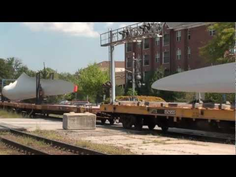 UP CNW patch hauling wind tower blades