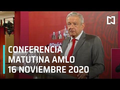 Conferencia matutina AMLO/ 16 de noviembre 2020