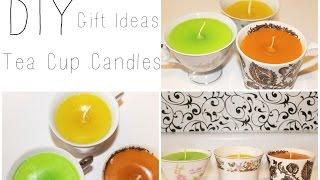 DIY Tea Cup Candles ♡ {Gift Idea} ♡ Jessica Joaquin