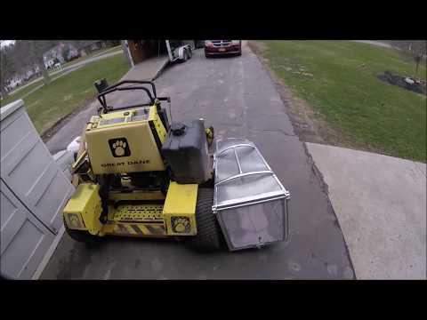 Accelerator Grass Catcher mounting plus new trailer hooks